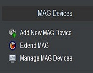 IPTV Reseller MAG Devices Options.